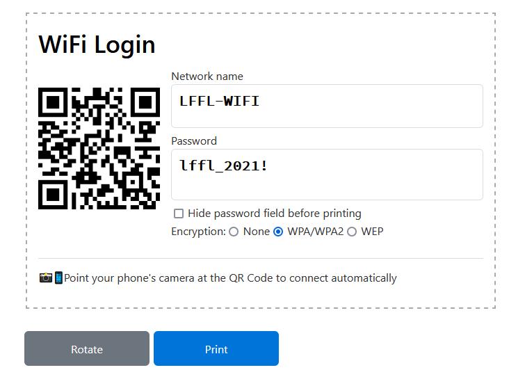 WiFi Card QR Code
