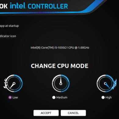slimbook intel controller