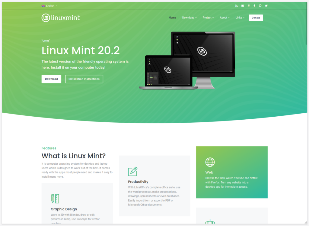 linux mint nuovo sito web