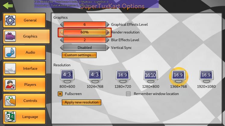 risoluzione supertuxkart 1.3